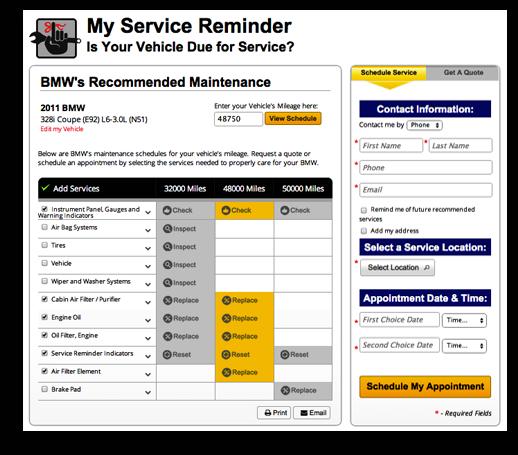 Car Service Reminder Software